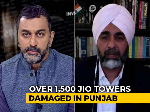 Video : Won't Allow Attacks On Jio Towers: Punjab Finance Minister Tells NDTV
