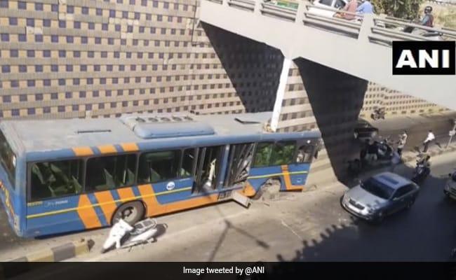 Bus Rams Underpass Pillar, Splits Into Two In Gujarat's Ahmedabad
