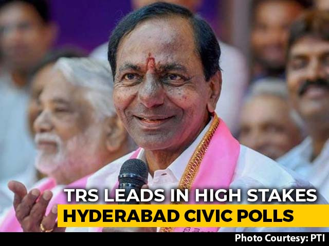Video : KCR's Party Ahead, Asaduddin Owaisi's 2nd In High-Stakes Hyderabad Polls
