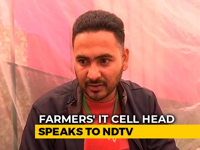 """Video : """"Made IT Cell To Counter Anti-Protest Agenda"""" : Farmers' Social Media Head"""