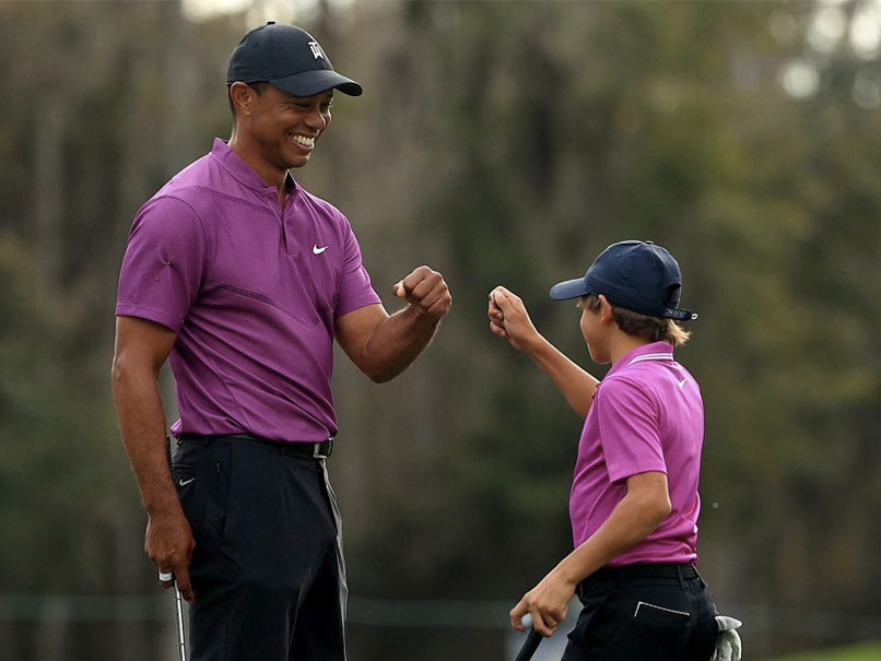 Tiger Woods son Charlie displays flawless golf swing