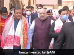 Amit Shah Offers Prayers At Assam's Kamakhya Temple