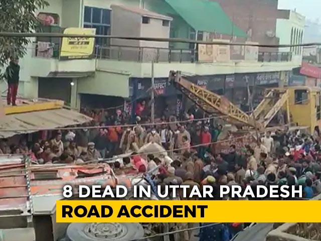 Video : 8 Killed As Sand-Laden Truck Overturns On SUV In Uttar Pradesh
