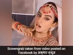 गुरु रंधावा के 'सूट-सूट करदा' गाने पर अक्षरा सिंह ने दुल्हन की ड्रेस में किया डांस, देखें Video