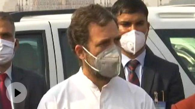 राहुल गांधी ने मोदी सरकार को घेरा, कहा- ये सत्याग्रह सिर्फ किसानों के लिए है, ये समझना गलत होगा