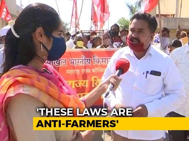 Video : Maharashtra Farmers Join Protest Against Farm Laws