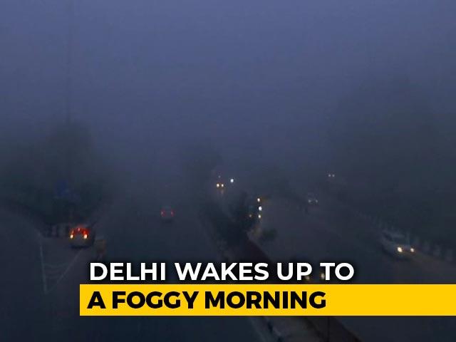 """Video : Dense Fog In Delhi, """"Zero"""" Visibility Leads To Flight Delays"""