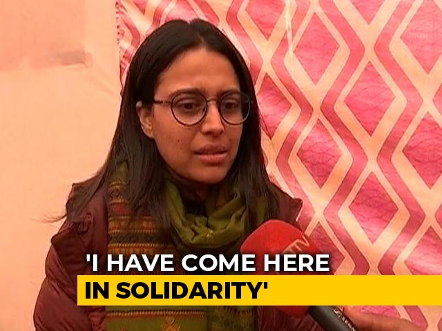 "Video : ""I Have A Relationship With Farmers Through Food"": Swara Bhasker At Protest Site"