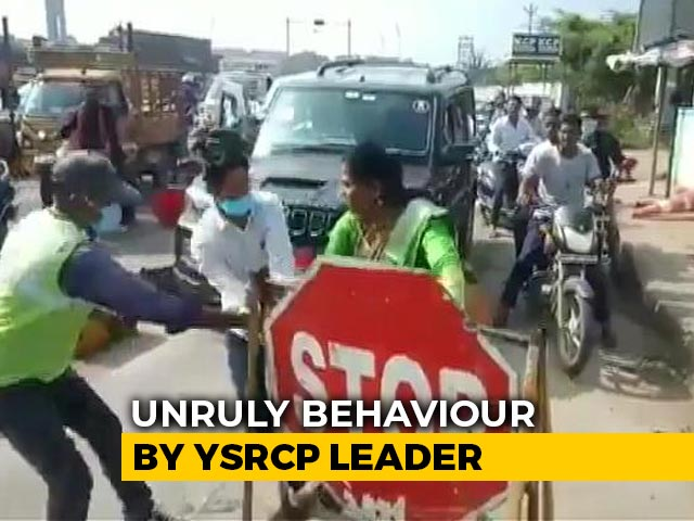 Video : Caught On Camera: Jagan Reddy's Party Leader Slaps Toll Booth Worker