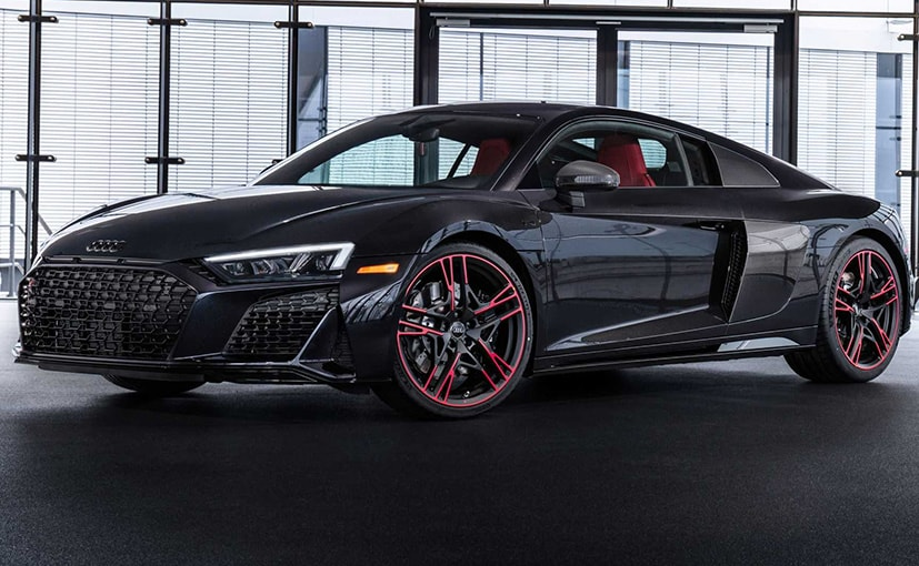 The Audi R8 V10 Panther Edition is finished in a new Panther Black Crystal Effect Paint.