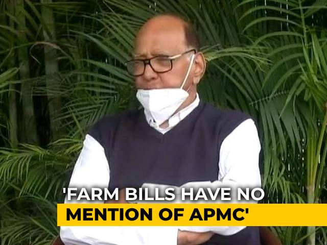 Video : Sharad Pawar Explains As BJP Cites His Old Letter In Row Over Farm Laws