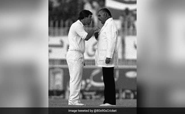 When England Captain Mike Gatting and Pakistan Umpire Shakoor Rana had a fight middle of the ground in 1987