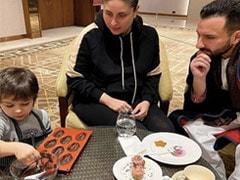 Kareena Kapoor के लाडले तैमूर अली खान बने शेफ, कप केक बनाते आए नजर- देखें Photos