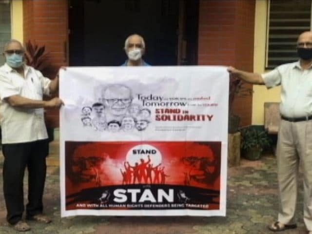 Video : Jesuits Protest As 83-Year-Old Stan Swamy In Jail For Over 2 Months