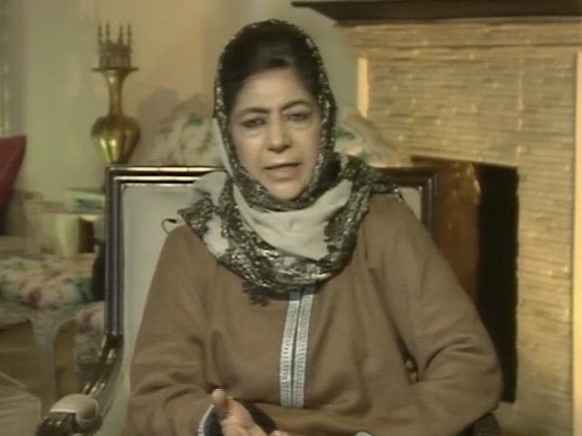 Video : J&K Polling Booth Taken Into BJP Candidates' Home: Mehbooba Mufti