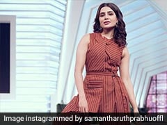 Samantha Ruth Prabhu Is Weekend Ready In A Stunning Striped Jumpsuit