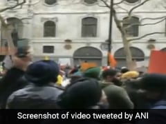 Police Deployed Outside Indian Embassy In London Amid Pro-Farmer Protests