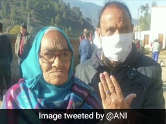 100-Year-Old Woman Braves Cold To Vote In J&K Local Elections