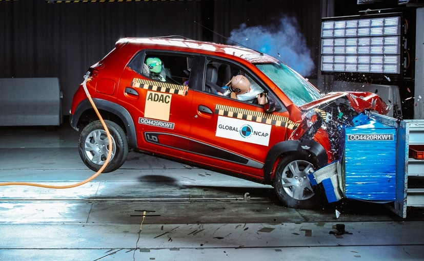 The Renault Kwid received a 2-star safety rating for both adult and child occupant protection