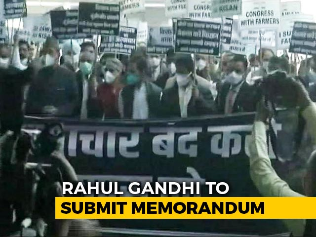 Video : Rahul Gandhi-Led Congress March To Meet President Over Farm Laws Stopped