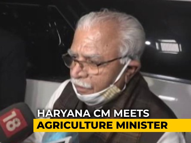 "Video : Talks With Farmers Can Take Place ""In A Day Or Two"": Haryana Chief Minister"