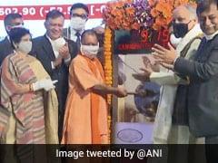 लखनऊ नगर निगम के बॉन्ड्स की स्टॉक एक्सचेंज पर हुई लिस्टिंग, CM योगी ने बजाया BSE का घंटा