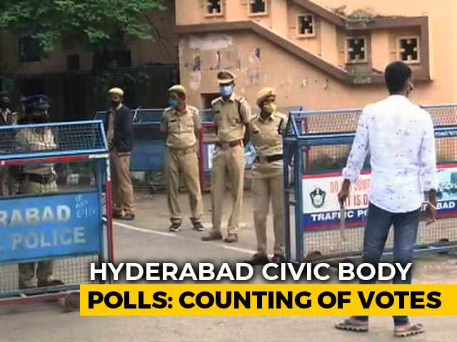 Video : Counting Today For Hyderabad's Bitterly-Fought Civic Polls