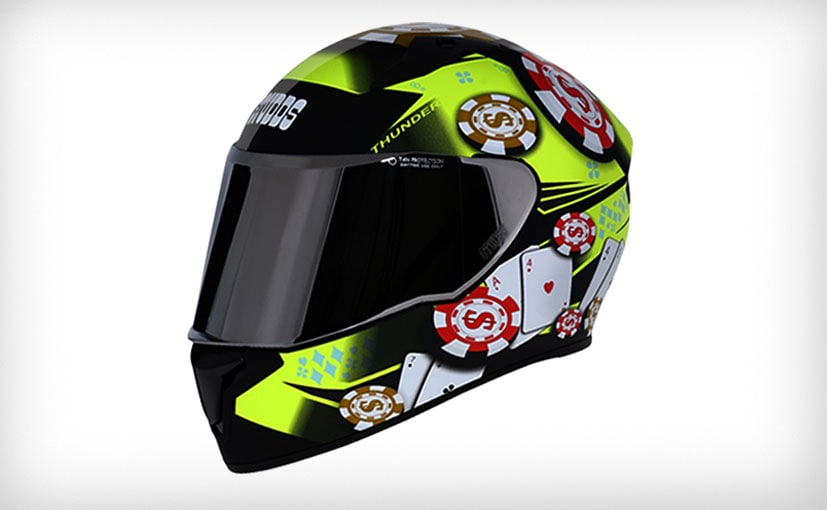 The Studds Thunder D6 Decor helmet is priced at Rs. 1,795