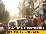 Video : Trinamool Supporters Surround Rebel MP's Car Outside BJP Office