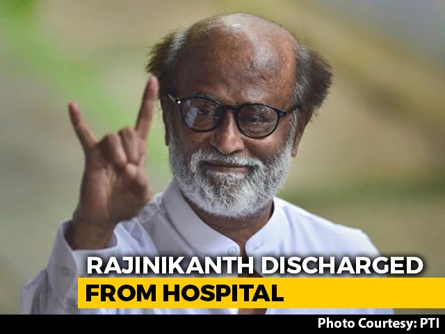 Video : Rajinikanth Discharged From Hospital; Blood Pressure Stable, Say Doctors