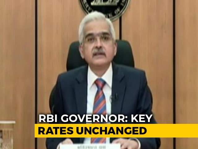 Video : -7.5% Real GDP Growth Projected For 2020-21, Says RBI