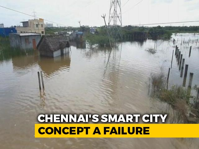 Video : Chennai's Thalambur Flooded. Marooned Residents Use Trucks To Step Out
