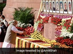 Amit Shah Pays Tributes To 2001 Parliament Attack Victims