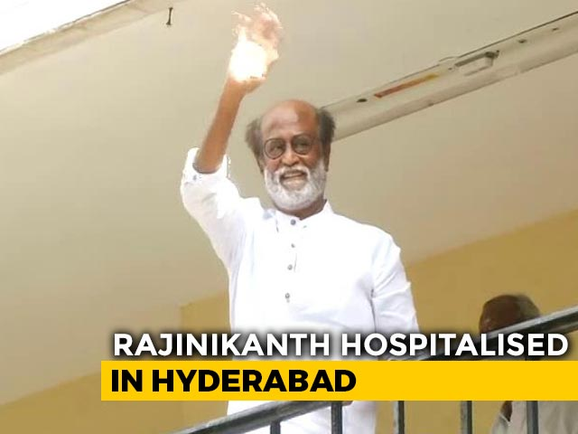 "Video : Actor Rajinikanth Admitted To Hospital Over ""Blood Pressure Fluctuations"""