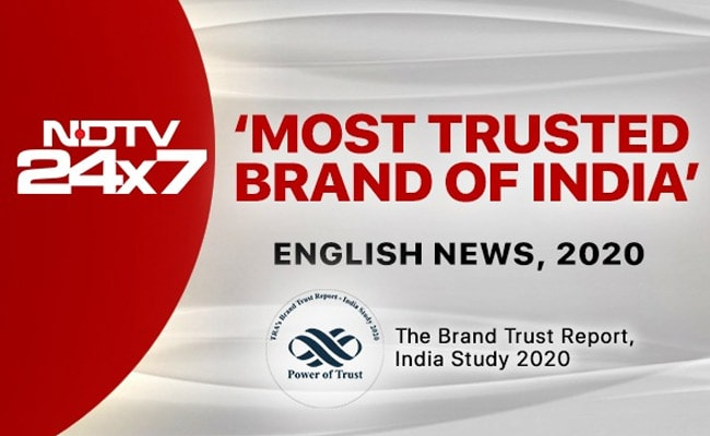 NDTV 24x7 Again Voted 'India's Most Trusted Brand - 2020' In English News