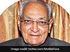 Senior Congress Leader Motilal Vora Dies At 93