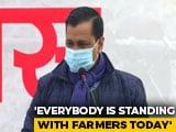 "Video : ""Calling Farmers Terrorists Attempt To Defame Them"": Arvind Kejriwal"