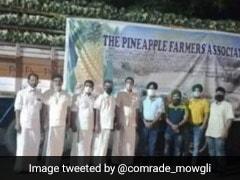 Kerala Farmers Send 16 Tonnes Of Vazhakulam Pineapple To Farmers Protesting In Delhi
