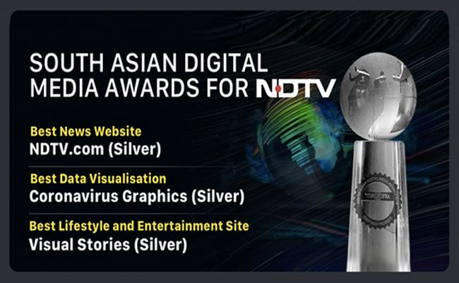 NDTV Wins Big In South Asian Digital Media Awards 2020