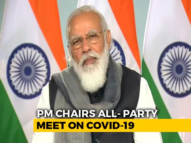 PM Modi Addresses All-Party Meeting On Covid