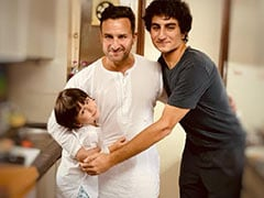 "Keeping Up With Kareena Kapoor's ""Favourite Boys"": A Pic Of Saif Ali Khan With Sons Ibrahim And Taimur"