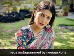 Shruti Haasan Blooms In A Floral Printed <i>Saree</i> Channeling <i>Desi</i> Vibes