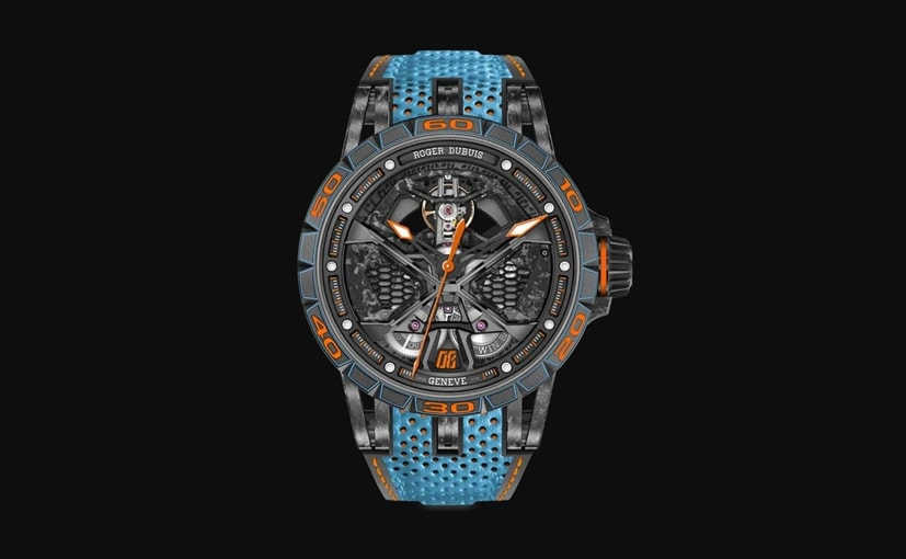 Lamborghini Huracan STO inspired watch from Roger Dubuis is called Excalibur Spider Huracan STO