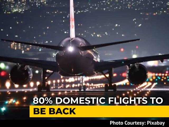 Video : Domestic Flights Allowed At 80% Of Pre-Covid Levels From Today: Centre