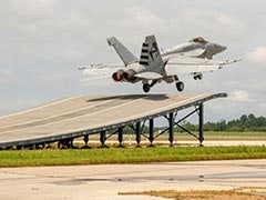 Watch: Boeing Super Hornet's Ski-Jump Launch In Pitch For Indian Carriers