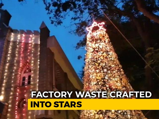 Video : Bengaluru Christmas Tree Made Out Of Recycled Products