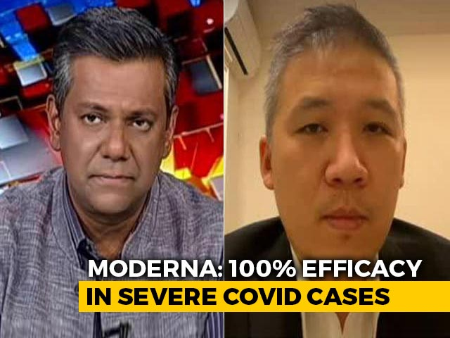 Video : Moderna Says Vaccine 100% Effective In Severe Covid Cases