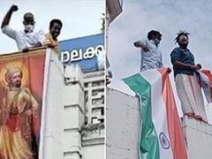 "BJP Unfurls ""Jai Sri Ram"" On Kerala Municipal Building, Left Workers Retaliate With Tricolour"