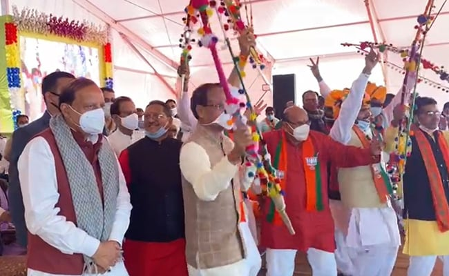 On Camera, Madhya Pradesh Chief Minister Dances With Colleagues At Event