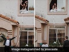 शादी से तीन दिन पहले दुल्हन को हुआ कोरोना, तो दूल्हे ने जुगाड़ कर ऐसे रचाई शादी - देखें Viral Photos